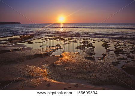 Sky on sunset in the beach Dreamland, Bali