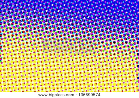 Purple and yellow half tone pattern abstract background
