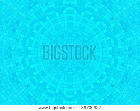 Bright blue cell background with concentric pattern