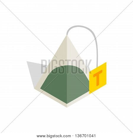 Teabag icon in isometric 3d style on a white background