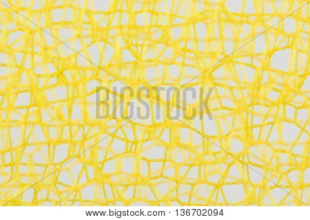 Tangled incoherent yellow wires as background picture