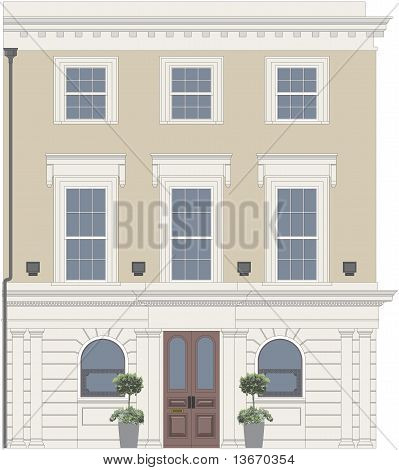 Pub Or Restaurant With Ornate Window.eps