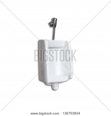 Urinal or chamber pot for men isolated on white background.