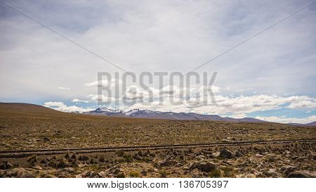 High Altitude Andean Landscape With Dramatic Sky