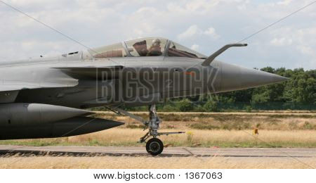 Taxiing French Rafale Jet Cockpit Close-Up