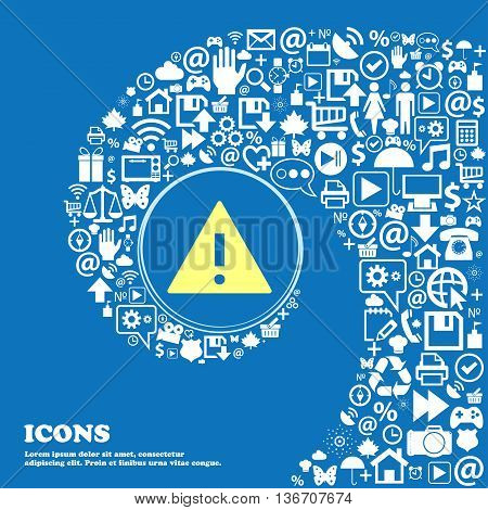 Attention Sign Icon. Exclamation Mark. Hazard Warning Symbol . Nice Set Of Beautiful Icons Twisted S
