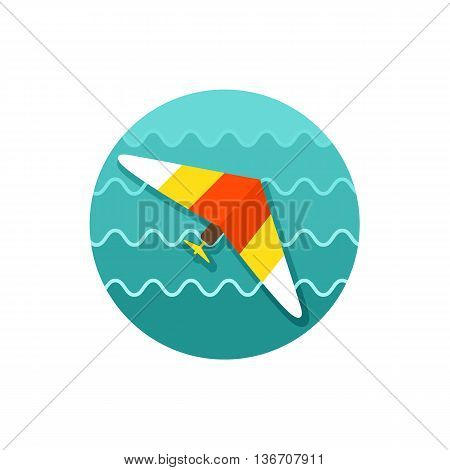 Hang Glider vector icon. Travel. Summer. Summertime. Holiday. Vacation eps 10