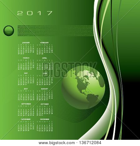 A 2017 global communications calendar for print or web