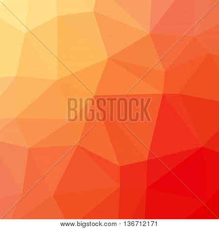 The background triangles. Abstract geometric background with polygons. Background triangulation. Color yellow-red