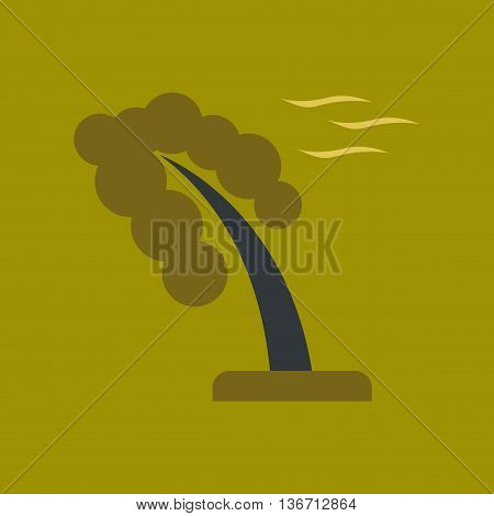 flat icon on stylish background nature strong wind tree