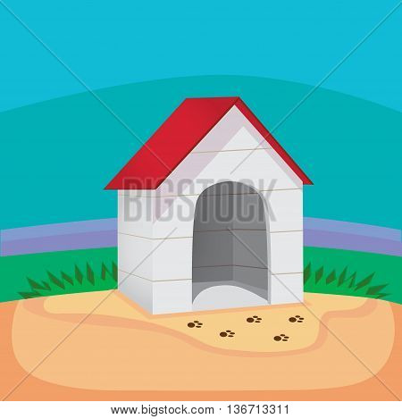 Perfect dog house . Vector illustration eps 10