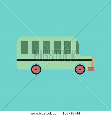 flat icon on stylish background education school bus