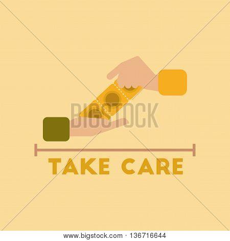 flat icon on stylish background gays hand condoms