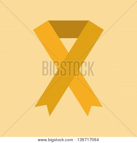 flat icon on stylish background gays HIV ribbon