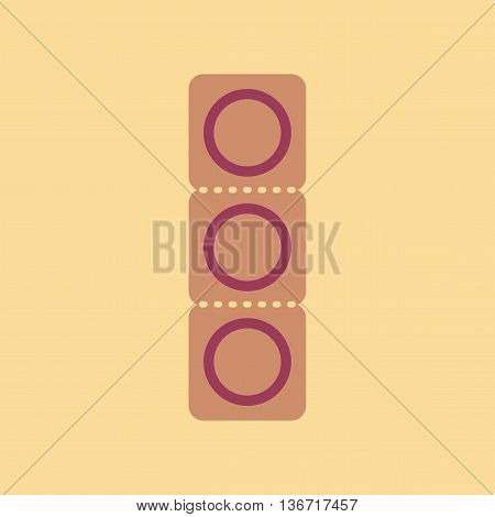 flat icon on stylish background gays condom contraceptive