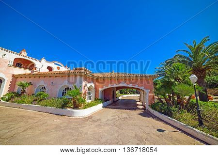beautiful building in Costa Smeralda in Sardinia