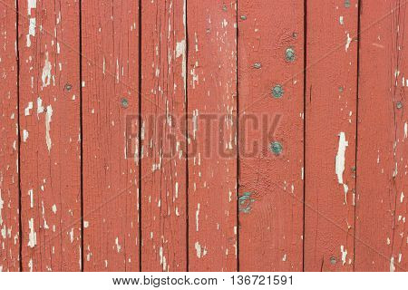 Background Made From Red Old Wooden Planks