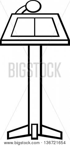 conference stand with microphone