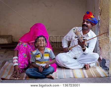 Indian Musicians  Playing Musical Instruments