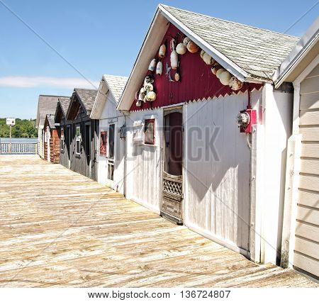boathouses on Canadaigua Lake in the Finger Lakes Region of upstate New York