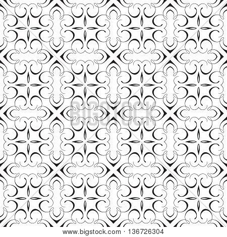 Elegant Damask Calligraphy Decorative Geometric Flourish Fancy Repeating Seamless Vector Pattern Background Design