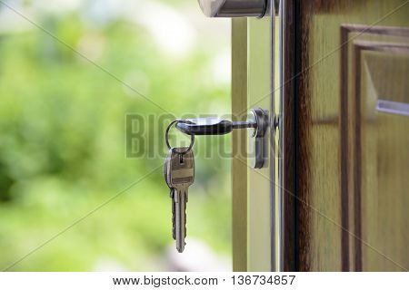 a key in the door may look something nice in pictures