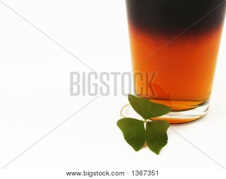 St Patricks Day Beer And Shamrock