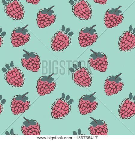seamless raspberry pattern
