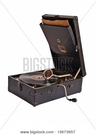 Mehanical record player 2 old-timer