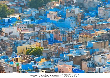 View of Jodhpur (Blue city). Rajasthan India