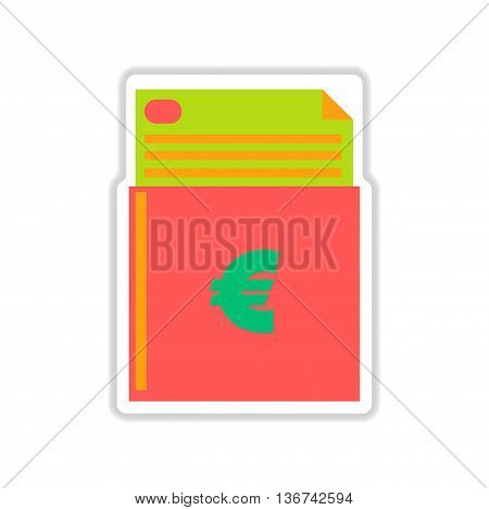 paper sticker on white  background finance checkbook