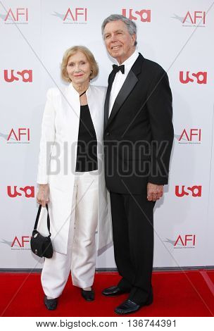 Jeffrey Hayden and Eva Marie Saint at the 36th AFI Life Achievement Award held at the Kodak Theater in Hollywood, USA on June 12, 2008.