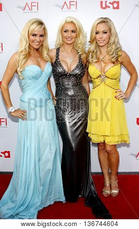 Bridget Marquardt, Holly Madison and Kendra Wilkinson at the 36th AFI Life Achievement Award held at the Kodak Theater in Hollywood, USA on June 12, 2008.