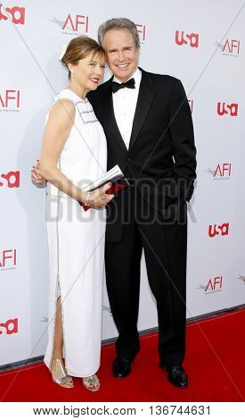 Warren Beatty and Annette Bening at the 36th AFI Life Achievement Award held at the Kodak Theater in Hollywood, USA on June 12, 2008.