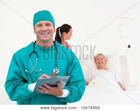 Team of Doctors working in a Hospital ward
