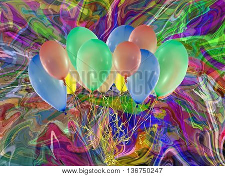 Invitation Card for a special Party with Balloons