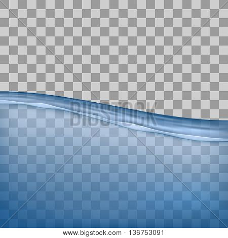 Water, sea, ocean with transparency on transparent background. Flooding water with transparency. Transparent background. Ocean floor. Sea bottom.