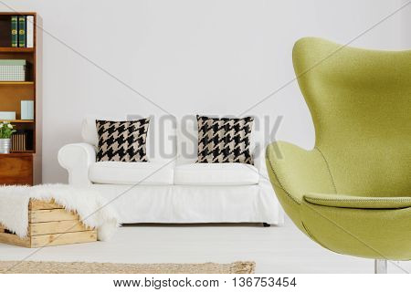 Famous Shape Of An Armchair In A Modern Living Room