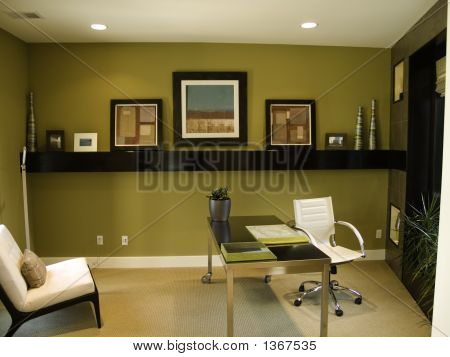 Modern looking home office