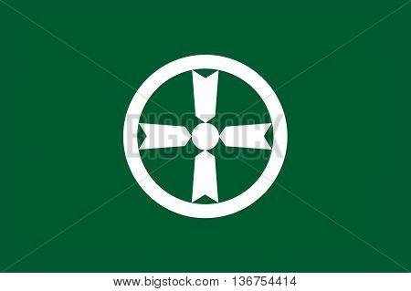Japan Akita prefecture Akita city flag illustration