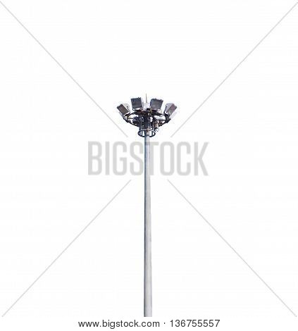 isolated Light pole tower on white background
