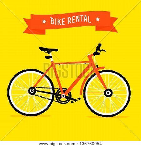 Bike Rental Service Vector
