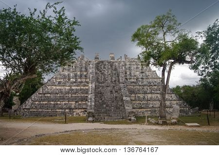 Maya Pyramid , Chichen-Itza in Yucatan Mexico