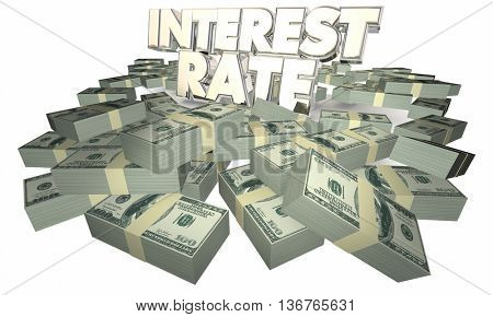 Interest Rate Borrow Money Earn Savings 3d Illustration