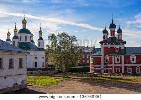 Bogoyavlensky Monastery. Courtyard of the Epiphany Monastery Uglich - Russia.