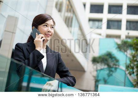 Businesswoman chat on mobile phone