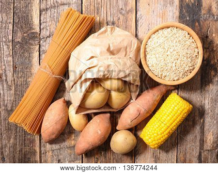 carbohydrate food background