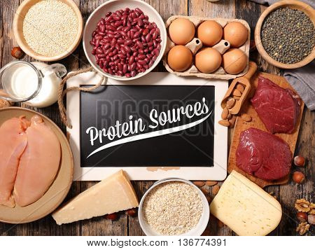 assorted protein food