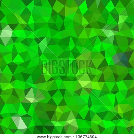 Abstract multicolor (dark and light green) low-poly vector background