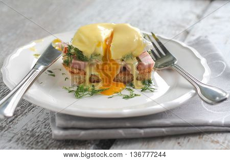 Eggs Benedict for hollandaise sauce and cut stems